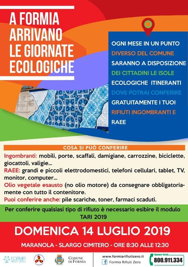 Raccolta Rifiuti Ingombranti Roma Calendario 2020.Formia Sesta Tappa Delle Domeniche Ecologiche A Maranola