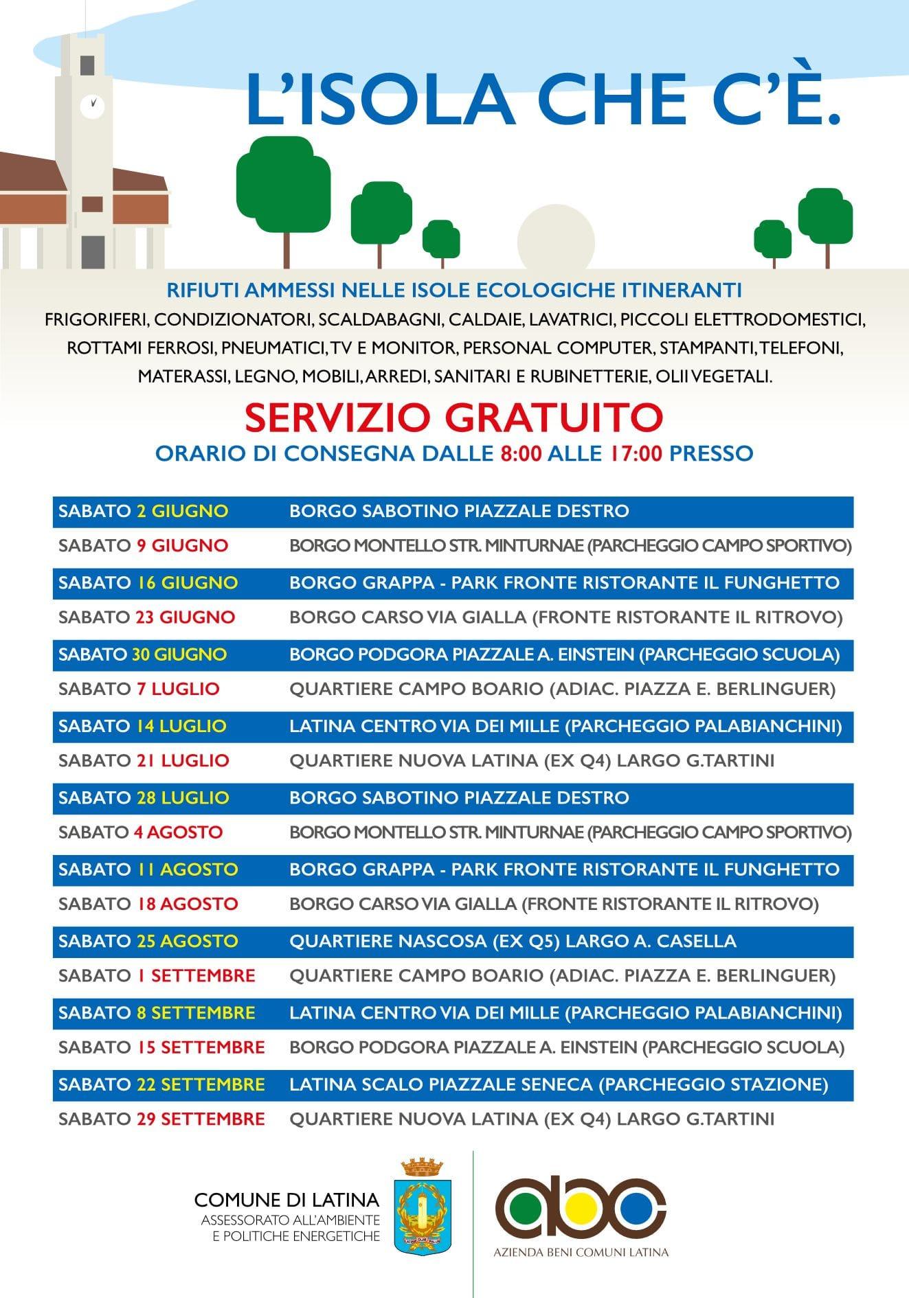 Raccolta Rifiuti Ingombranti Roma Calendario 2020.Rifiuti Tornano Le Isole Ecologiche Itineranti Calendario
