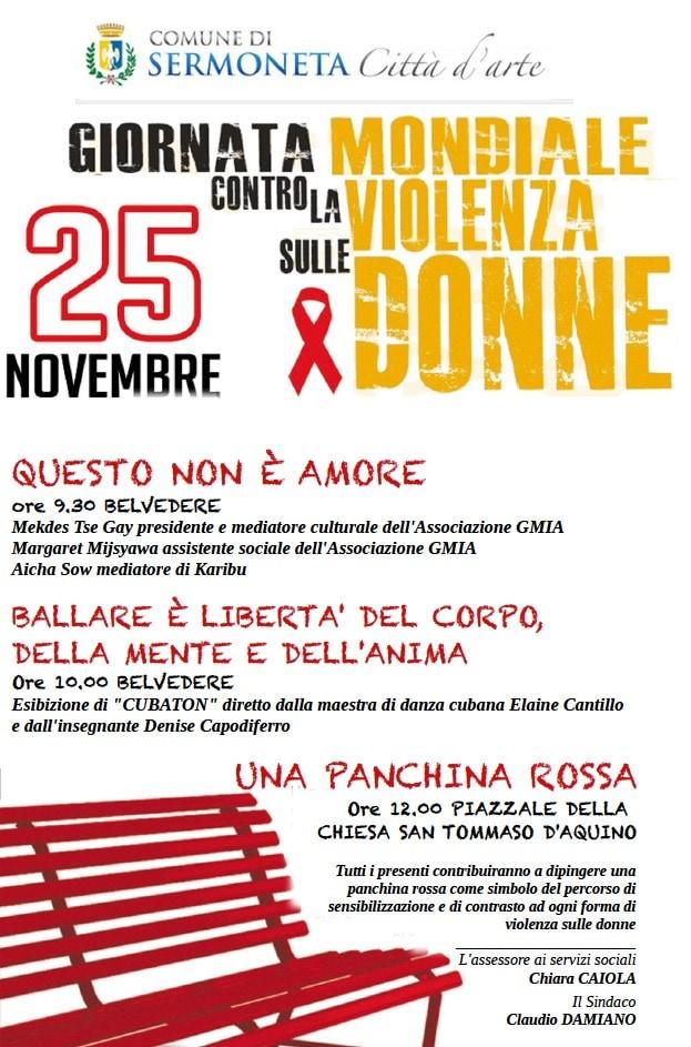 giornata contro violenza sulle donne eventi a sermoneta 25 novembre 2018 giornata contro violenza sulle donne