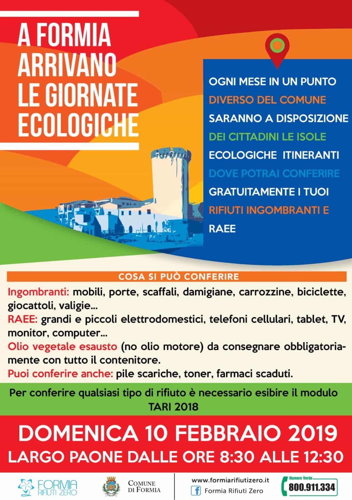 Raccolta Rifiuti Ingombranti Roma Calendario 2020.Formia Tornano Le Domeniche Ecologiche Isole Per I Rifiuti