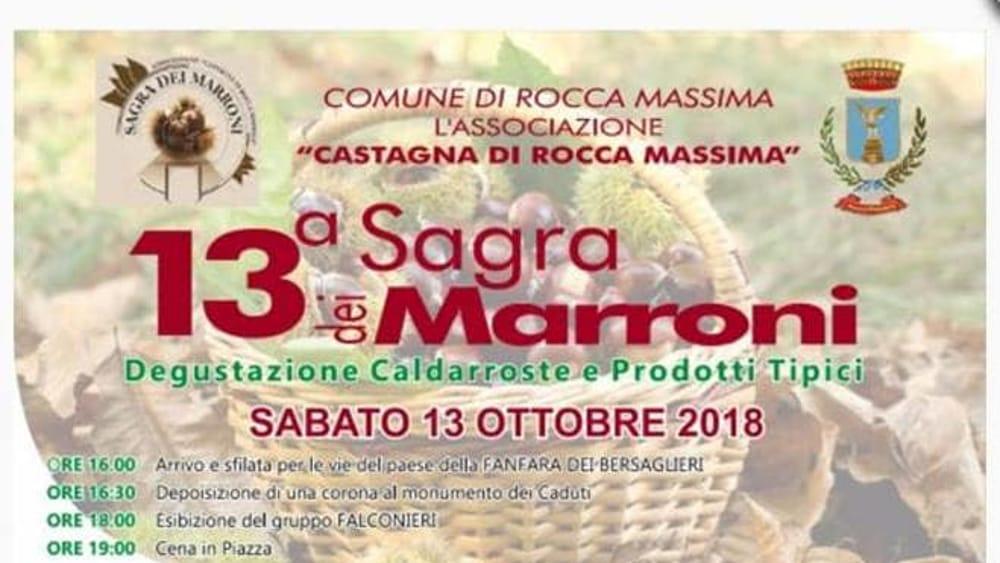 Sagra dei Marroni - Rocca Massima 2018-2