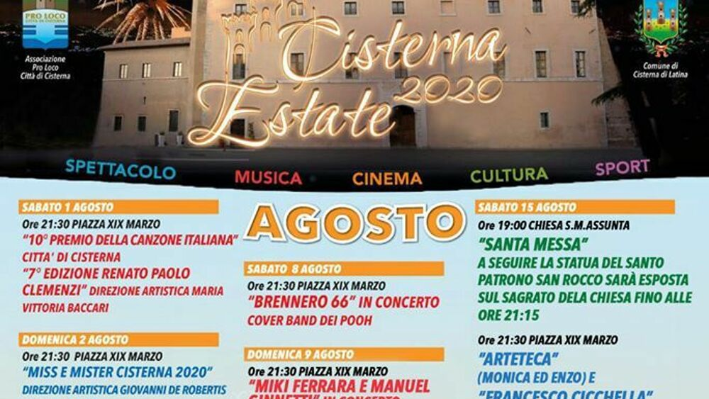 Cisterna estate 2020 agosto-2