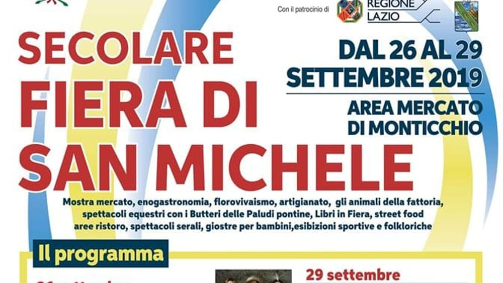 secolare fiera di san michele  2019-2
