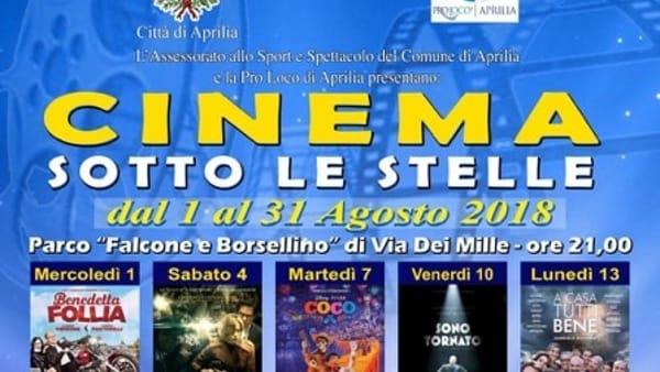 Cinema sotto le stelle: ad Aprilia tornano le proiezioni all'aperto
