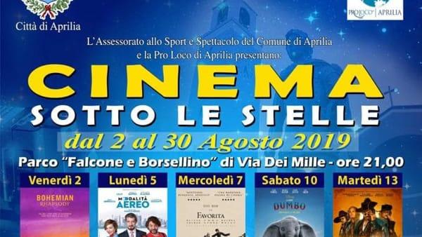 Cinema Sotto le Stelle: ad Aprilia torna la rassegna cinematografica
