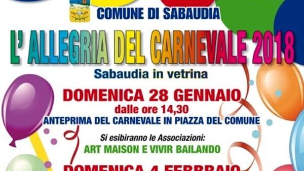 Carnevale di Sabaudia: tre domeniche di festa, musica e divertimento