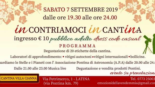 Cantine aperte in Vendemmia: anche a Villa Gianna iniziative per grandi e piccini