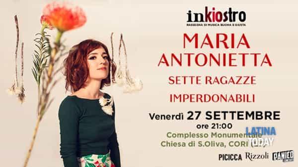 """Torna Inkiostro: Maria Antonietta e le sue """"Sette Ragazze Imperdonabili"""" a Cori"""