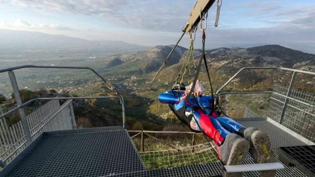 Flying In the Sky a Rocca Massima, l'emozione della ZipLine più veloce del mondo