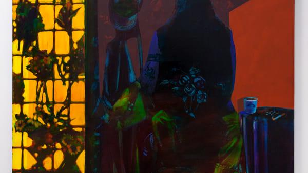 Keiran Brennan Hinton - Flower's grave. Oil on canvas, cm 147,32x127. 2019-2