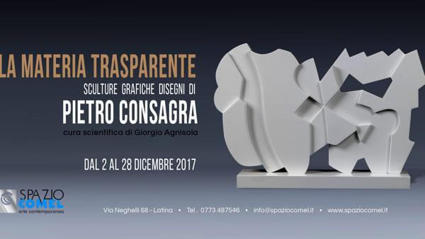 """Allo Spazio COMEL """"La Materia Trasparente Sculture Grafiche Disegni di Pietro Consagra"""""""