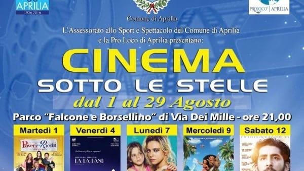 Cinema Sotto le Stelle: ad Aprilia le proiezioni di film all'aperto