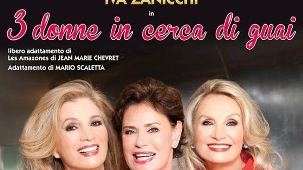 Tre Donne in Cerca di Guai: Corinne Clery, Barbara Bouchet e Iva Zanicchi sul palco del Teatro Europa di Aprilia