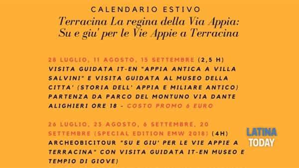 Appiaday2018: a Terracina l'archeobicitour, su e giù per la via Appia