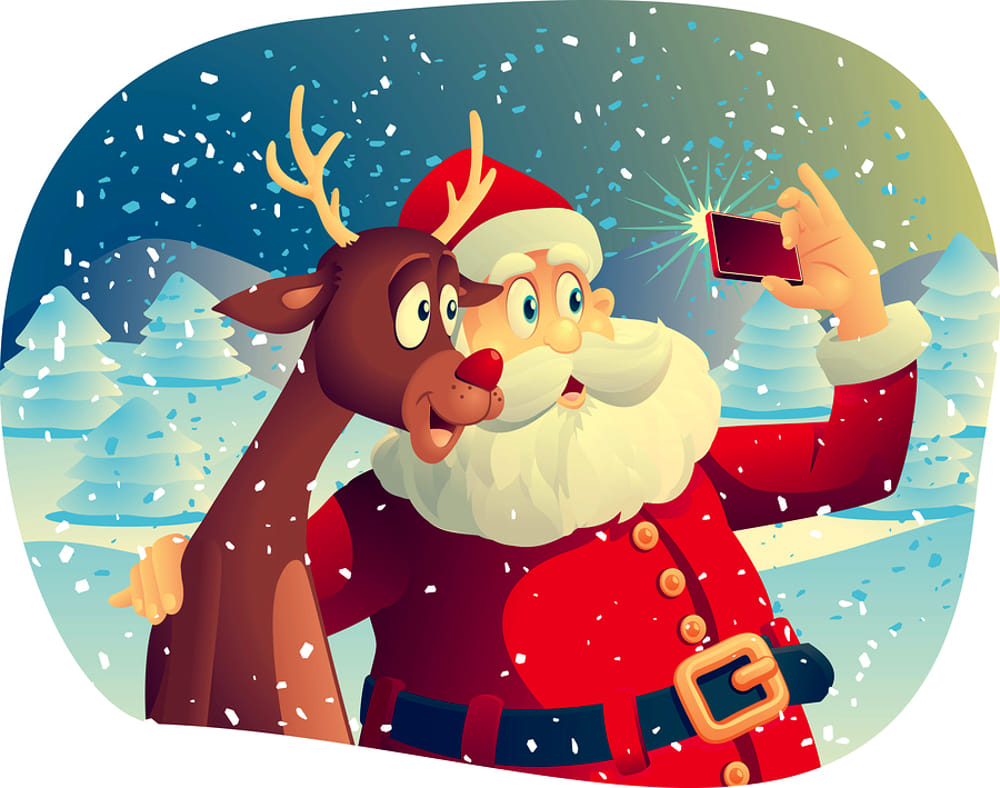Immaggini Babbo Natale.Selfie Con Babbo Natale A Latina Pomeriggi In Allegria Per Grandi E Piccini